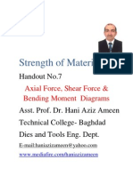 Strength of Materials- Axial Force Shear Force Bending Moment Diagrams- Hani Aziz Ameen