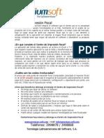Centro de Impresion Fiscal Con Detalle Tecnico