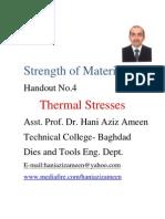 Strength of Materials- Thermal Stresses- Hani Aziz Ameen