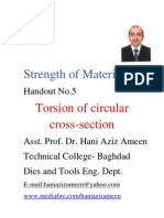 Strength of Materials- Torsion of Circular Cross Section- Hani Aziz Ameen