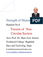 Strength of Materials- Torsion of Non Circular Section- Hani Aziz Ameen