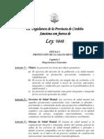Ley 9848 - Salud Mental Cba