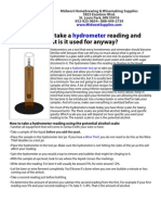 How To Take a Hydrometer Reading