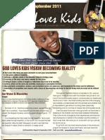 God Loves Kids news letter for August & September 2011