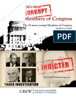CREW's Most Corrupt Report 2008 - The 20 Most Corrupt Members of Congress (and four to watch)