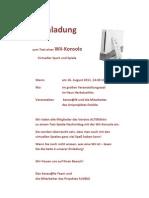 Einladung Zum Wii-Test