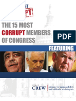 CREW's Most Corrupt Report 2009 - The 15 Most Corrupt Members of Congress