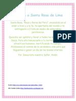 Oración a Santa Rosa de Lima