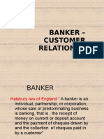 BANKER – CUSTOMER RELATION