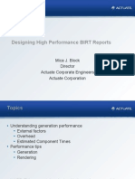 Designing High Performance BIRT Reports