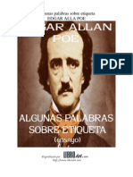 Poe, Edgar Allan - Algunas Palabras Sobre Etiqueta