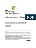 Whitepaper - Microsoft Dynamics AX and BizTalk Integration