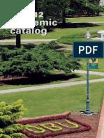 2011-2012 Academic Catalog