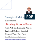 Strength of Materials- Bending Stress in Beam- Hani Aziz Ameen
