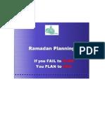 Ramadan plan.