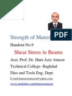 Strength of Materials- Shear Stress in Beams- Hani Aziz Ameen