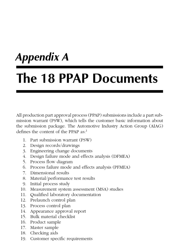 ppap With ppap documents pdf