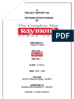 Advertising Effectivness Raymond