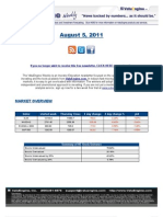 ValuEngine Weekly Newsletter August 5, 2011