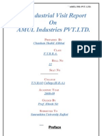 Amul Industr MBA Project Report Prince Dudhatra