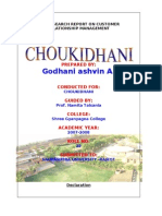 CHOUKIDHANI Mm MBA Porject Report Prince Dudhatra