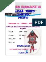 Ellora Nirali MBA Porject Report Prince Dudhatra