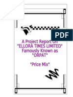 Ellora Times Orpat-Price Mix-MBA Project Prince Dudhatra