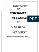 EVERESTV WAFFER-Consumer Reserch-MBA Project Report-prince Dudhatra