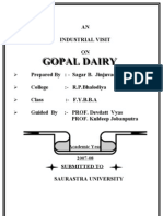 GOPAL DAIRY PROJECT MBA Project Report Prince Dudhatra