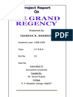 GRAND REGENCY MBA Project Report Prince Dudhatra
