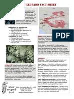 Snow Leopard Fact Sheet