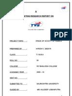 TVS MOTOR COMPANY LTD.main MBA Porject Report Prince Dudhatra