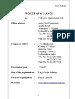 Videocon International Ltd-MBA project report prince dudhatra