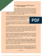El Estado peruano - reseña PCAV - 28 de julio 2011