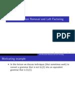 Removing Left Recursion