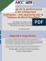 2008 - La gestion de la performance d_une organisation publique grâce à la BSC - 10 10 2008_2