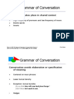 Grammar of Conversation - PresentationBiber