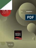 Programme de l'Espace Mendès France de septembre 2011 à janvier 2012, Poitiers