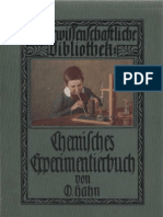 Chemisches Experimentierbuch - O.  Hahn - 1911