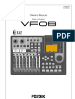Fostex VF08 Owner's Manual