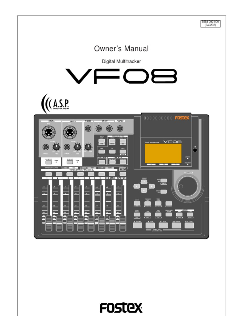 fostex vf08 owner s manual recording audio electronics rh scribd com Quick Reference Guide Quick Reference Guide