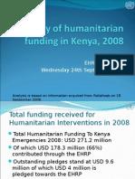 18 September 2008 | Summary of Humanitarian Funding for Kenya 2008 | PDF Format