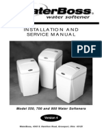 WaterBoss Softener V4 Manual