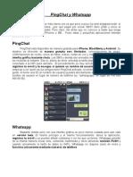 PingChat y Whatsapp