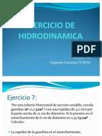 EJERCICIO DE HIDRODINAMICA