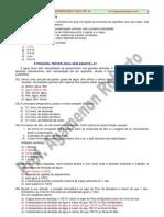 Propriedades Coligativas - Exercícios com Gabarito