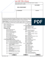 96 Civil Cover Sheet