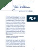 Processos Lexicais e Fonologicos Em Leitura e Escrita de Uma
