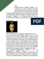 Arte Paleolitico y Neolitico