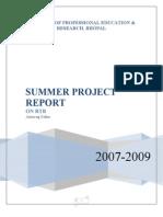 Summer Project of anurag sahu, MBA, marketing, bhopal
